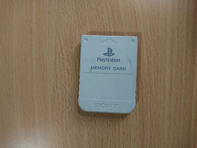 PS1 Sony PlayStation 1 - Official/Genuine Memory Card (White) PS1/PSX/PS2 D