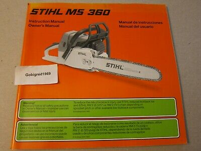 STIHL MS 362 C-M Chainsaw Instruction Owners Manual NEW - $4 50