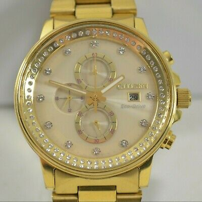 Citizen Eco Drive Nighthawk B612 S092965 Gold Stainless Steel