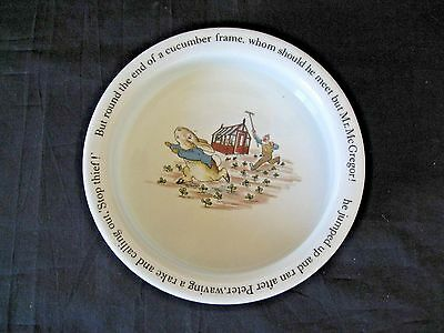 RARE Wedgwood PETER RABBIT Beatrix Potter Baby/Childs Dish Made In England MINT