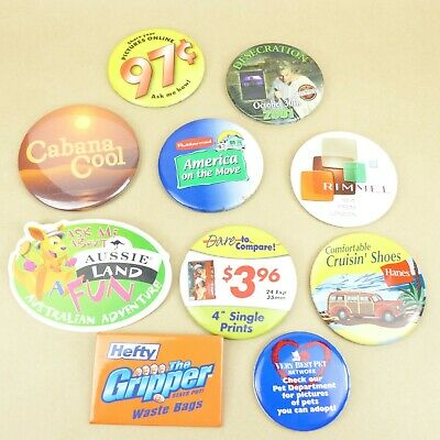 LOT OF 10 Walmart Employee Pinback Button Pin from 1990s - $7 99