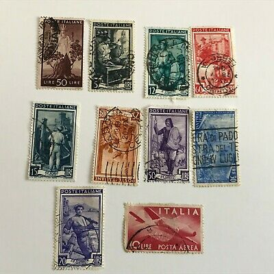 Mixed Job Lot of Italian Postage Stamps - Used - Off Paper - Italy - small lot