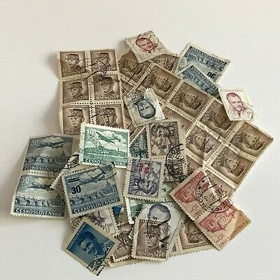 Mixed Job Lot of Czechoslovakian Postage Stamps Used Off Paper - Czechoslovakia