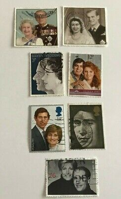 Mixed Job Lot of British Postage Stamps - Used - Off Paper - Great Britain
