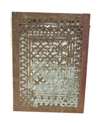 Huge Antique Cast Iron Heating Grate Vent Register Cover Ornate Design 19 X 14