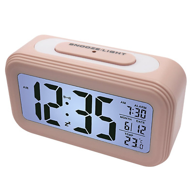 EASEHOME Digital Alarm Clock, Electronic Bedside Alarm Clocks Smart Travel Clock