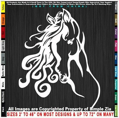 Horses Horseshoe with Head Cowboy Cowgirl Ride Country Pickup Sticker Decal