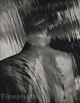 1988 Vintage Male Nude By Herb Ritts 11x14 Surreal Waterfall Abstract Photo Art