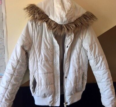 PRIMARK YD: Padded, girls, white, hooded jacket, two-pocket, 12-13 years, 158 cm