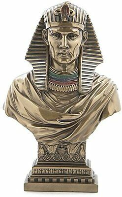"8.25"" Egyptian Pharaoh Bust Egypt Home Decor Statue Figure Sculpture"
