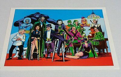 1978 DC Comics JLA/Batman/Superman/Flash villain poster 1:Catwoman/Joker/Riddler