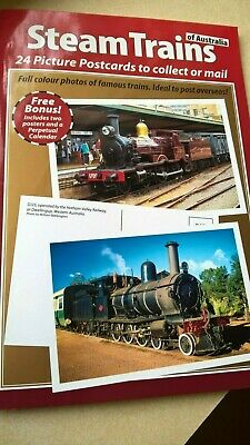 STEAM TRAINS OF AUSTRALIA   24 Picture Postcards + 2 >A4 Posters/Prints