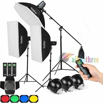 3Pcs Godox SL-100W White Version LED Light Studio Continuous Lighting Remote Kit