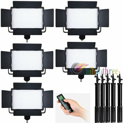 5Pcs GODOX LED500C Changeable Version LED Studio Video Light + Remote + Stand