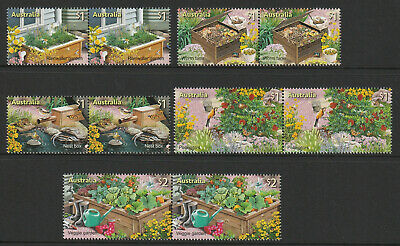 Australia 2019 :Stamp Collecting Month, In the Garden Design Set by Joined pairs