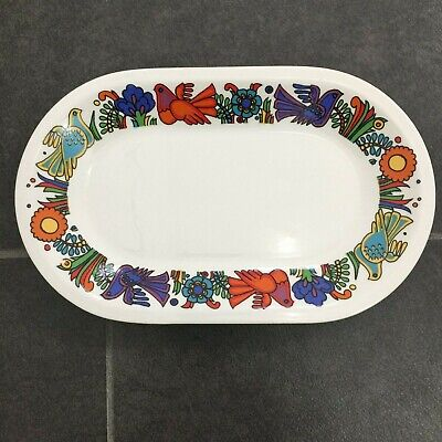Villeroy & Boch ACAPULCO - 9.75 Inch Oval Platter Outer Graphic - Blue Stamp