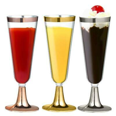 6PCS Disposable Plastic Wine Glass Party Champagne Flute Goblet Cocktail Cup Kit