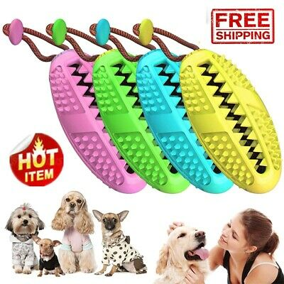 Dog Toothbrush Chew Stick Cleaning Toy Silicone Pet Brushing Oral Dental Care Ne