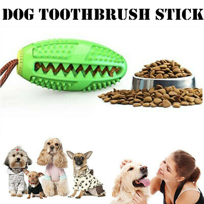 Dog Toothbrush Chew Stick Cleaning Toy Silicone Pet Brushing Oral Dental Care AA