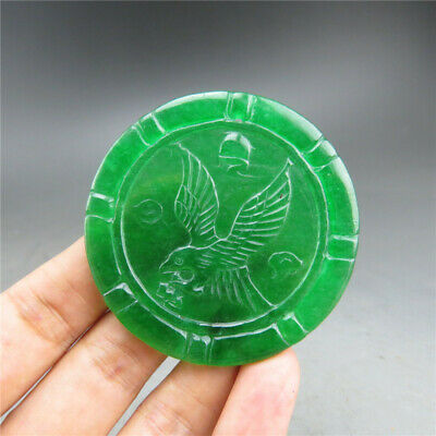 China, jade, pure manual carving, Jadeite jade ,The eagle, pendant A31