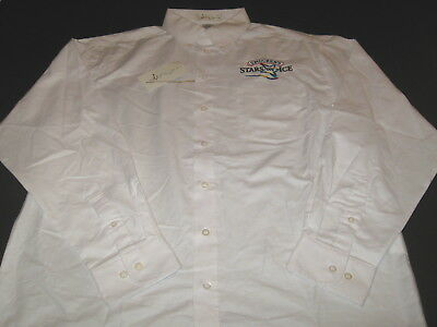 Smucker's STARS ON ICE Figure Skating Tour Embroidered White Dress Shirt NWT MED