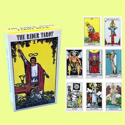 78 Pieces Tarot Deck Cards English Full Version Commemorative Edition w/ Case