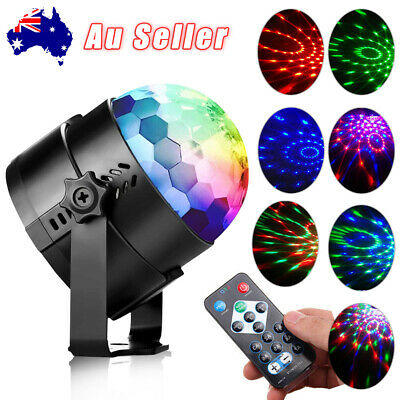 New Disco Light Party DJ LED RGB Stage Effect Lamp Laser Crystal Magic Ball Lamp