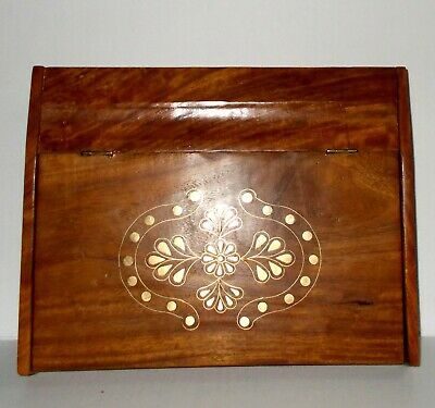 Lovely Brass Inlaid - Writing Slope