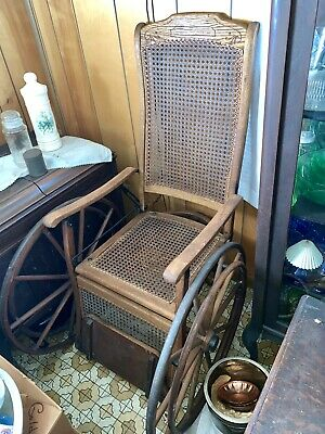 Antique J Hetherington Cane Wood Wheelchair Very Nice!! Martinsburg WV