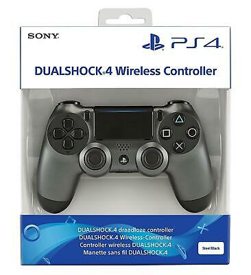 Official Sony DualShock 4 PS4 Controller Steel Black V2 IN STOCK
