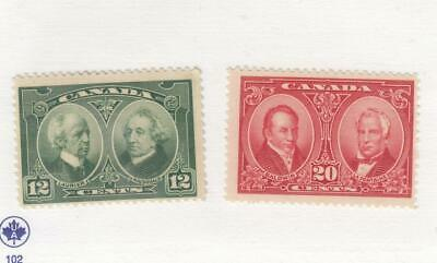 CANADA (MK3315) # 147-148 VF-MNH/LH  12,20cts 1938 / 2 HISTORICAL ISSUES CAT $40