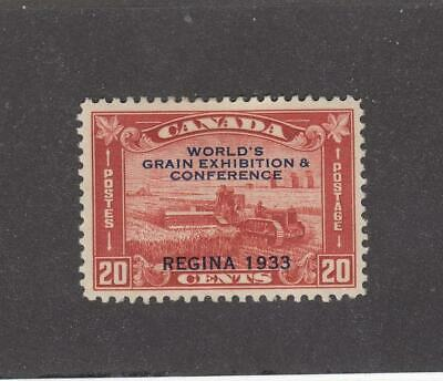 CANADA (MK872) # 203 VF-MH  20cts  HARVESTING O/PRINT/1933 GRAIN EX CAT VAL $60