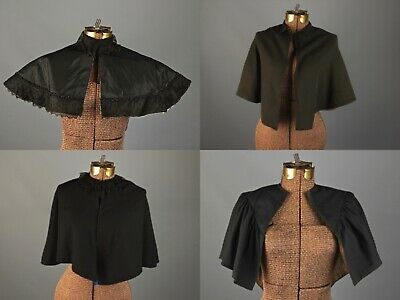 VTG Women's Antique Early 1900s Capelet Lot of 4 Sz S AS IS #2817 Edwardian Cape