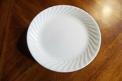 "Corelle NWT 4 White Swirl AKA Enhancements 10 1/4"" Dinner Plates"