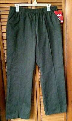 Chic Comfort Collection Misses 18 Petite Poly/Cotton Pull-On Pants ~Charcoal