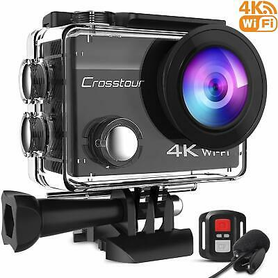 Crosstour CT8500 Action Cam 4K WiFi (16MP, Unterwasser 40m Wasserdicht, EIS
