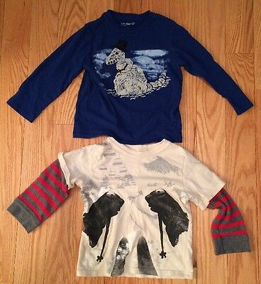 Lot Set Of 2 Gap Kids Boys Children Toddler T Shirt Long Sleeve Top Tee. Size 4.