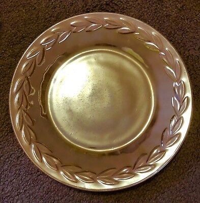 Vintage Fire King Oven Ware Peach Lustre Plate Good Condition