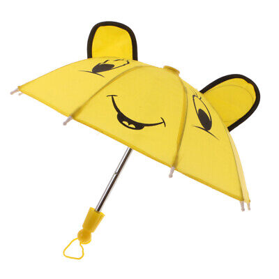 Yellow Umbrella for 18 inch AG American Doll Dolls Raincoat Clothes Accessory