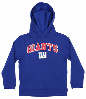 OuterStuff NFL Youth Boys Team Color Fleece Hoodie, New York Giants