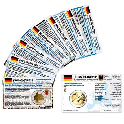 Germany Münzkarten Set 2006 - 2012 for all Commemorative Coins without Coins