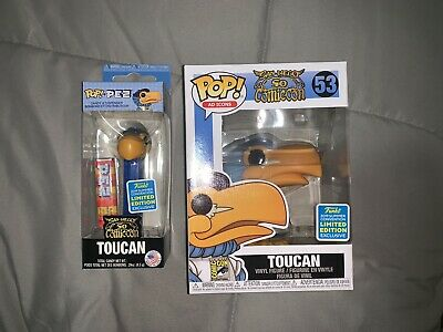 SDCC 2019 Limited Edition FUNKO Toucan Pop and Pez Lot Of 2- In Hand