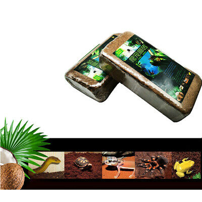 2 Count 100% Natural Coconut Shell Power Bricks for Reptiles Soil Bedding