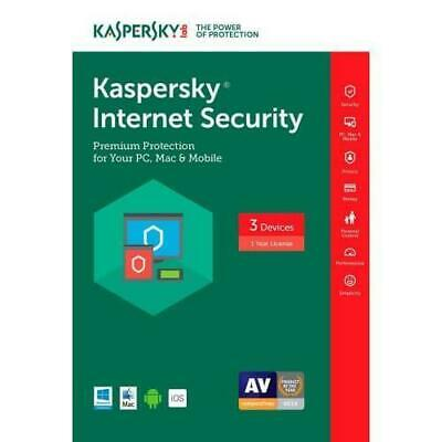 *NEW* Kaspersky Internet Security 2017 1 PC 1 Year AntiVirus FREE UPGRADE 2019