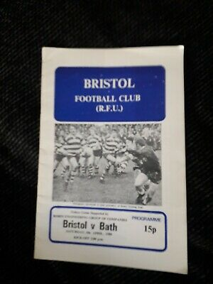 1980-Bristol V Bath-Club Friendly Rugby Union Programme