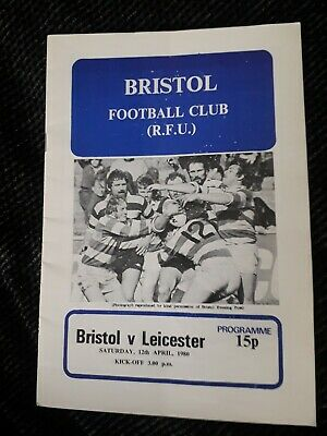 1980-Bristol V Leicester Tigers-Club Friendly Rugby Union Programme
