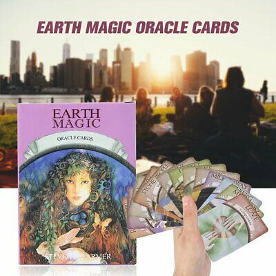Earth Magic Oracle Read Fate Tarot Cards Beginner Learning Set 48pc English Game