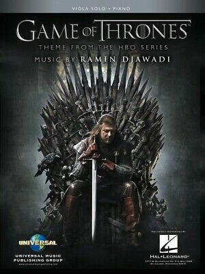 Game of Thrones for Viola & Piano Theme from the HBO Series NEW 000298744