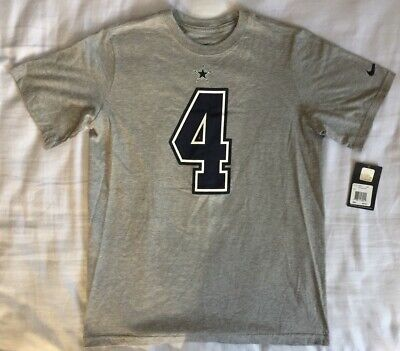 huge selection of f7a8c 1968f NIKE DALLAS COWBOYS Dak Prescott #4 Name & Number Tee Shirt - Youth Boys  Large L