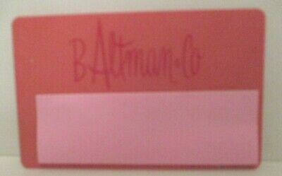 Vintage B Altman Defunct Closed Retail Department Store Charge Credit Card 80'S
